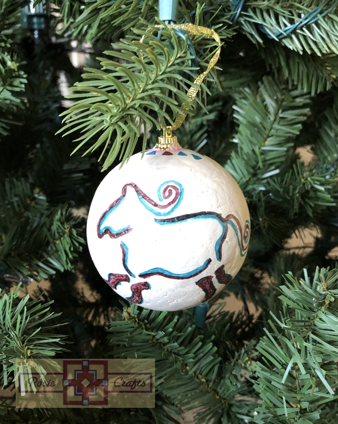 Artisan Tribes Tribal Horse Christmas Ornament