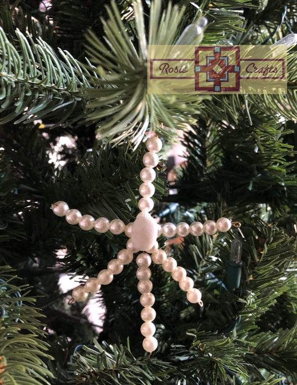 Rosie Crafts Pearl Christmas Snowflake Ornament