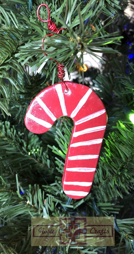 Rosie Crafts Candy Cane Christmas Ornament