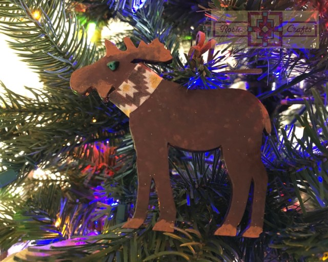 Rosie Crafts Moose Christmas Ornament