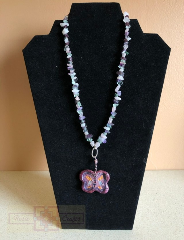 Rosie Crafts Polymer Clay Butterfly Necklace