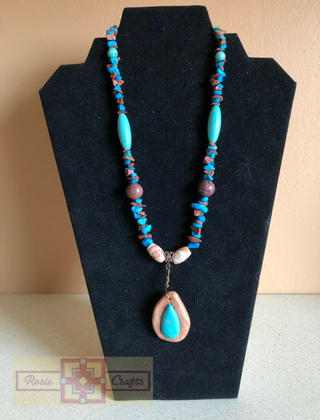 Artisan Tribes Polymer Clay Teardrop Necklace