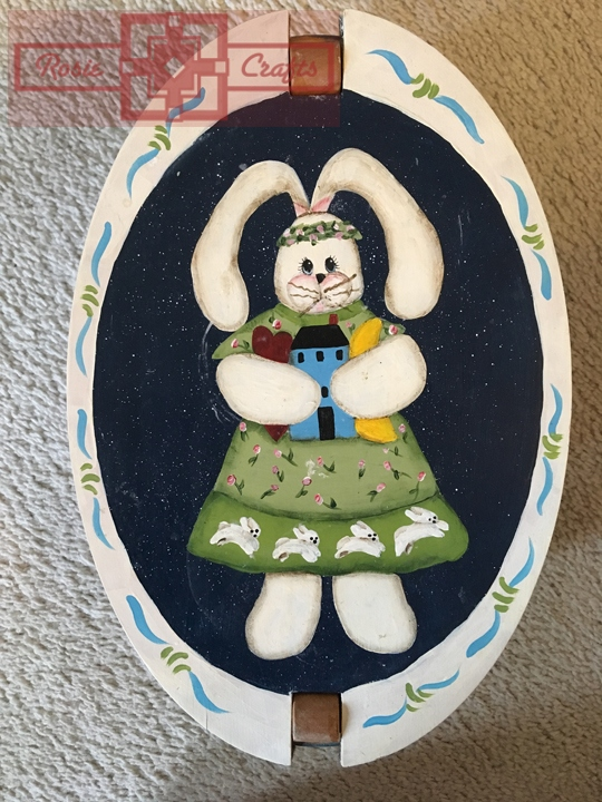 Rosie Crafts Painted Country Bunny Box
