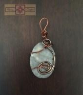 Rosie Crafts Stone Wire Pendant
