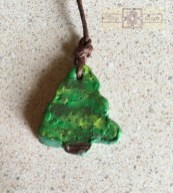 Rosie Crafts Polymer Clay Christmas Tree Pendant