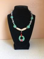 Rosie Crafts Polymer Clay Wreath Necklace