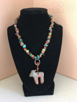 Artisan Tribes Polymer Clay Moose Necklace