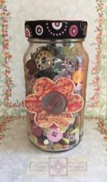 Rosie Crafts Floral Sewing Jar