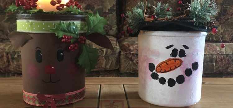 Rosie Crafts Reindeer and Snowman Battery Operated Christmas Candles
