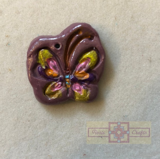 Rosie Crafts Polymer Clay Butterfly Pendant