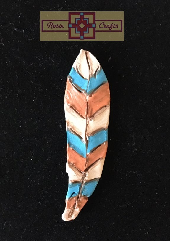 Artisan Tribes Tribal Polymer Clay Feather