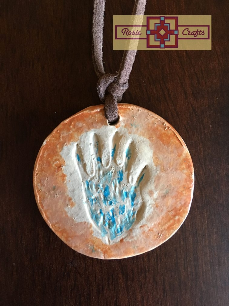 Artisan Tribes Polymer Clay Hopi Hand Pendant