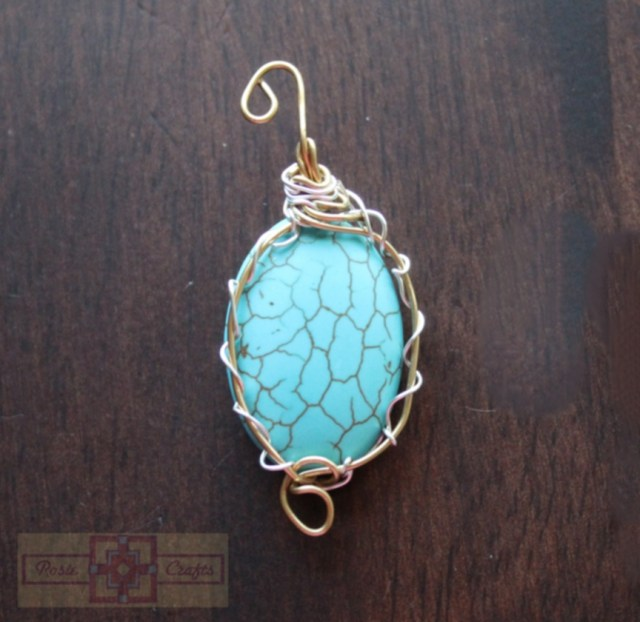 Artisan Tribes Turquoise Wire Wrapped Pendant