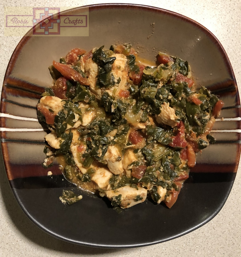 Rosie Crafts Chicken Spinach Dinner