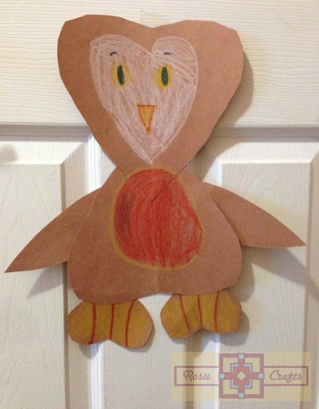 Rosie Crafts Valentine Owl Kids Craft