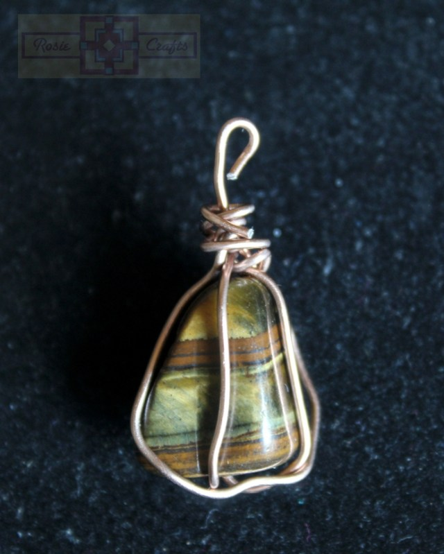 Rosie Crafts Wire Wrapped Stone Pendant