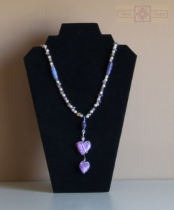 Rosie Crafts Polymer Clay Double Heart Necklace