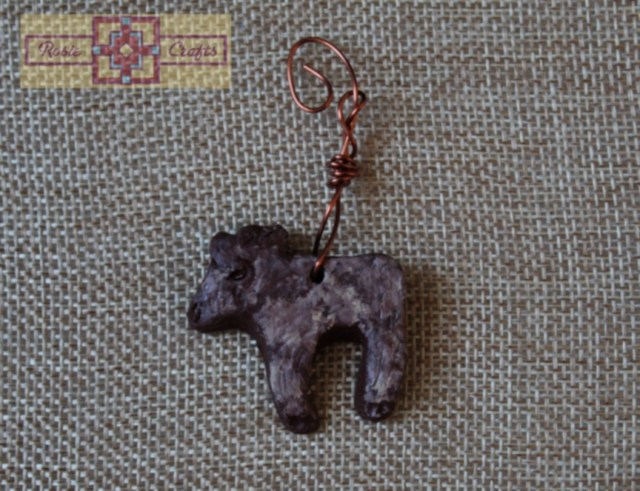 Artisan Tribes Wire Wrapped Moose Pendant