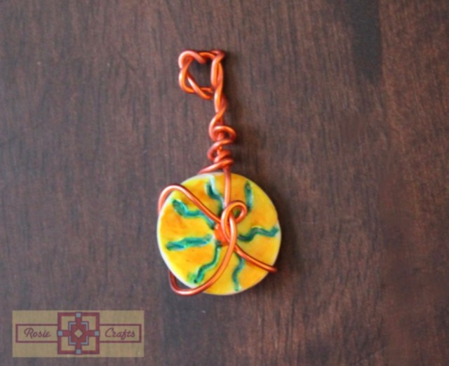 Artisan Tribes Wire Wrapped Sun Pendant