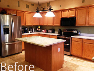 kitchen redo antique island how to get a quicker rosie on the house 1 have your cabinets refaced