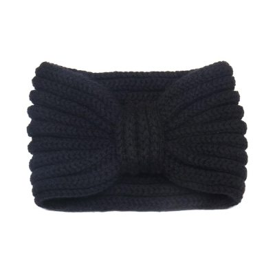 Luxury Scottish cashmere ear warmer | Black