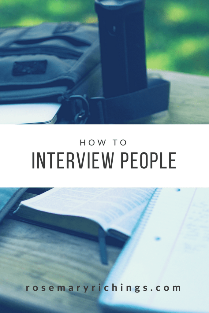 interviews: how to interview people