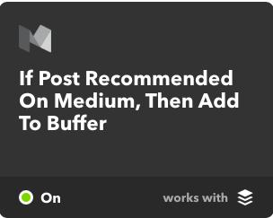 buffer IFTTT social