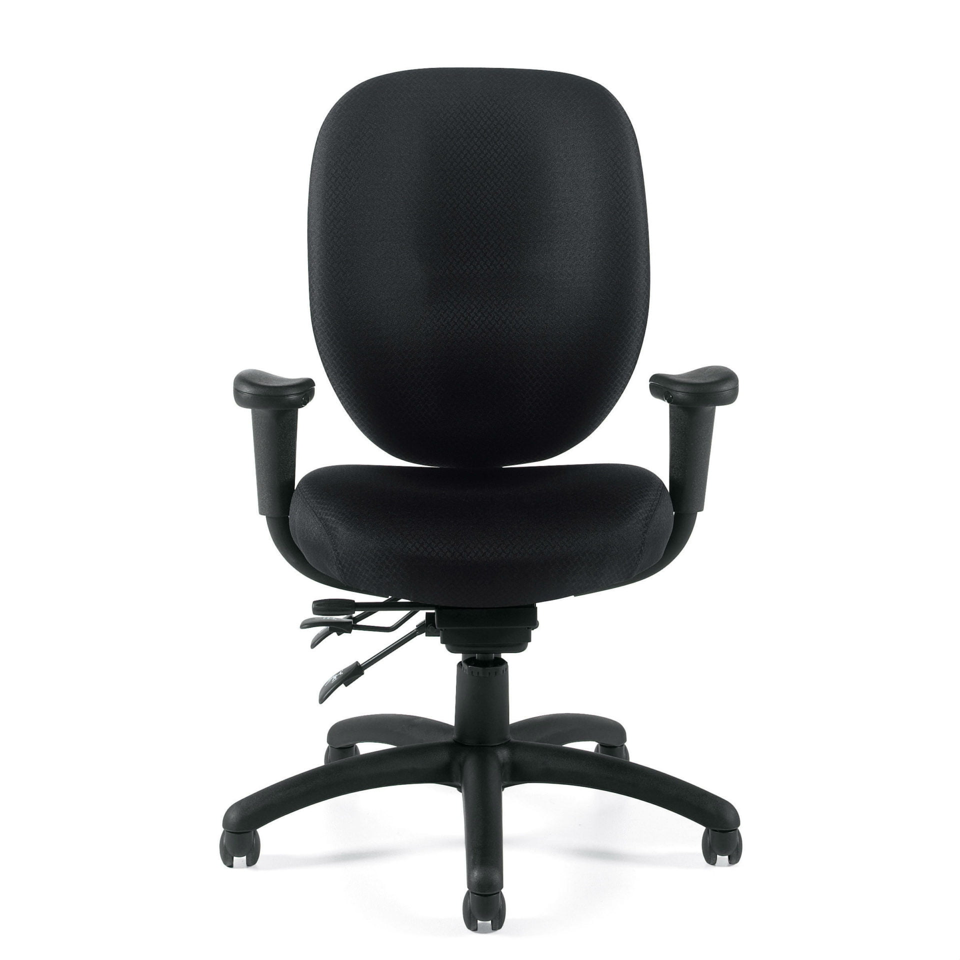 Offices To Go 11653 Black Fabric Task Chair With Arms