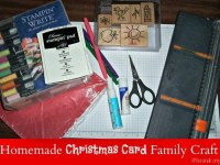 Homemade Christmas Card Family Craft