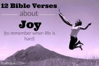 12 Bible Verses About Joy {to remember when life is hard}