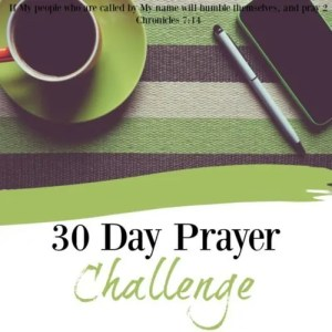 30 Day Prayer Challenge 2016