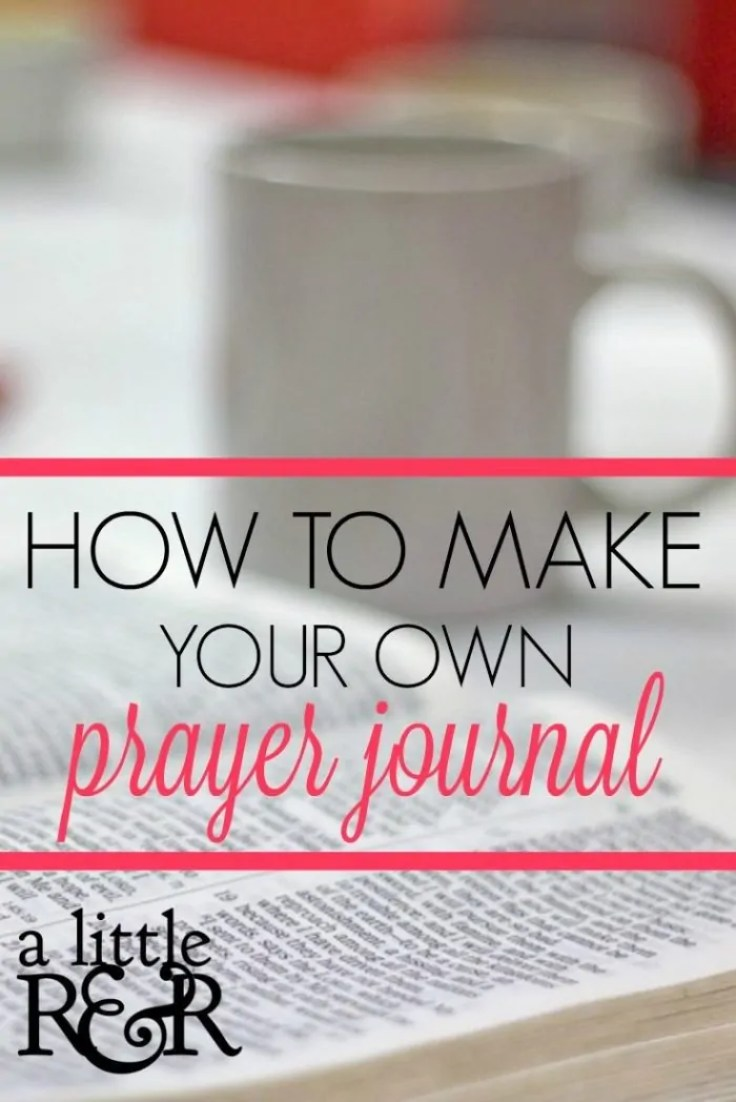 Here is how you can make your own prayer journal. It's simple and easy and helps to keep you from getting distracted during prayer!
