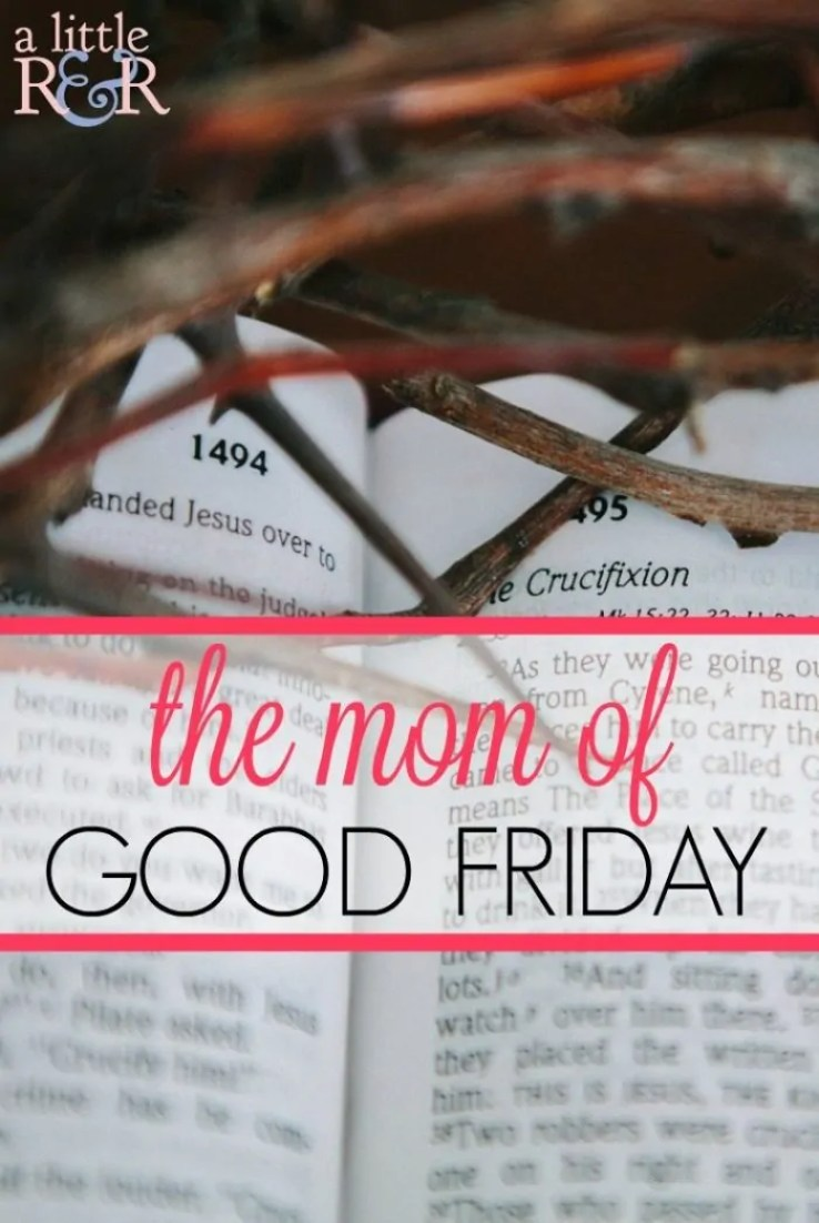 Stop trying to be the perfect Pinterest mom and walk the footsteps Jesus took that Good Friday as He chose the cross over what others thought the Messiah should be!