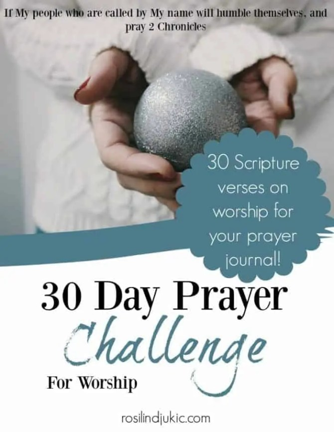 Join me for 30 days in learning how to mingle worship with prayer. Take the challenge and let's glorify Jesus this December!
