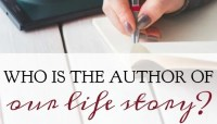 Who Is the Author Of Our Life Story?
