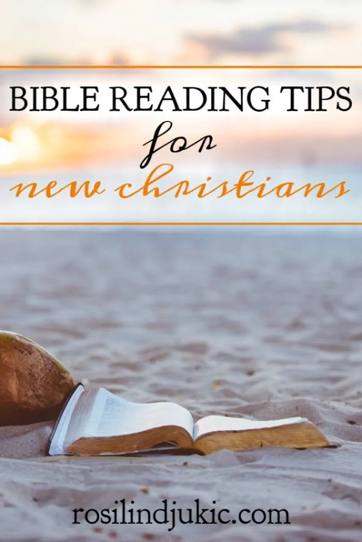 Here are 4 Bible reading tips for new Christians, because getting starting reading the Bible can be very overwhelming when you're just getting started.