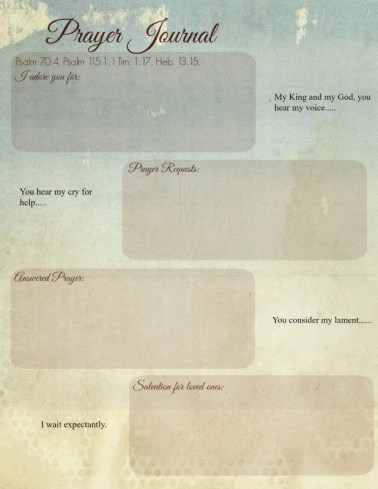 I love this prayer journal worksheet! It really helps me slow down and focus on praying, plus it doesn't take a lot of time. Perfect way to make prayer meaningful in my busy life.