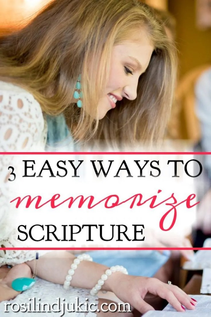 Memorizing scripture is so important for us in resisting the devil and renewing our mind. Here are 3 easy ways to effectively memorize scripture.