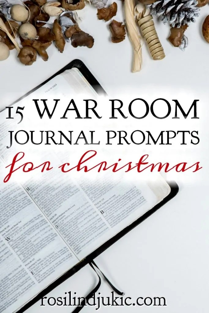 15 War Room Journal Prompts for Christmas  A Little R  R