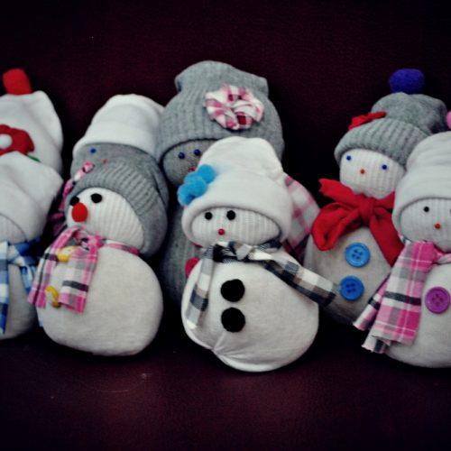 Ponožkový snehuliak Centrál (7)