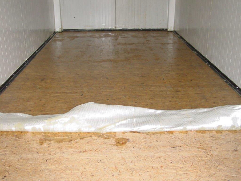 Containerboden Versiegeln, Osb-Platten, Spanplatten