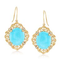 Sleeping Beauty Turquoise Filigree Drop Earrings With ...