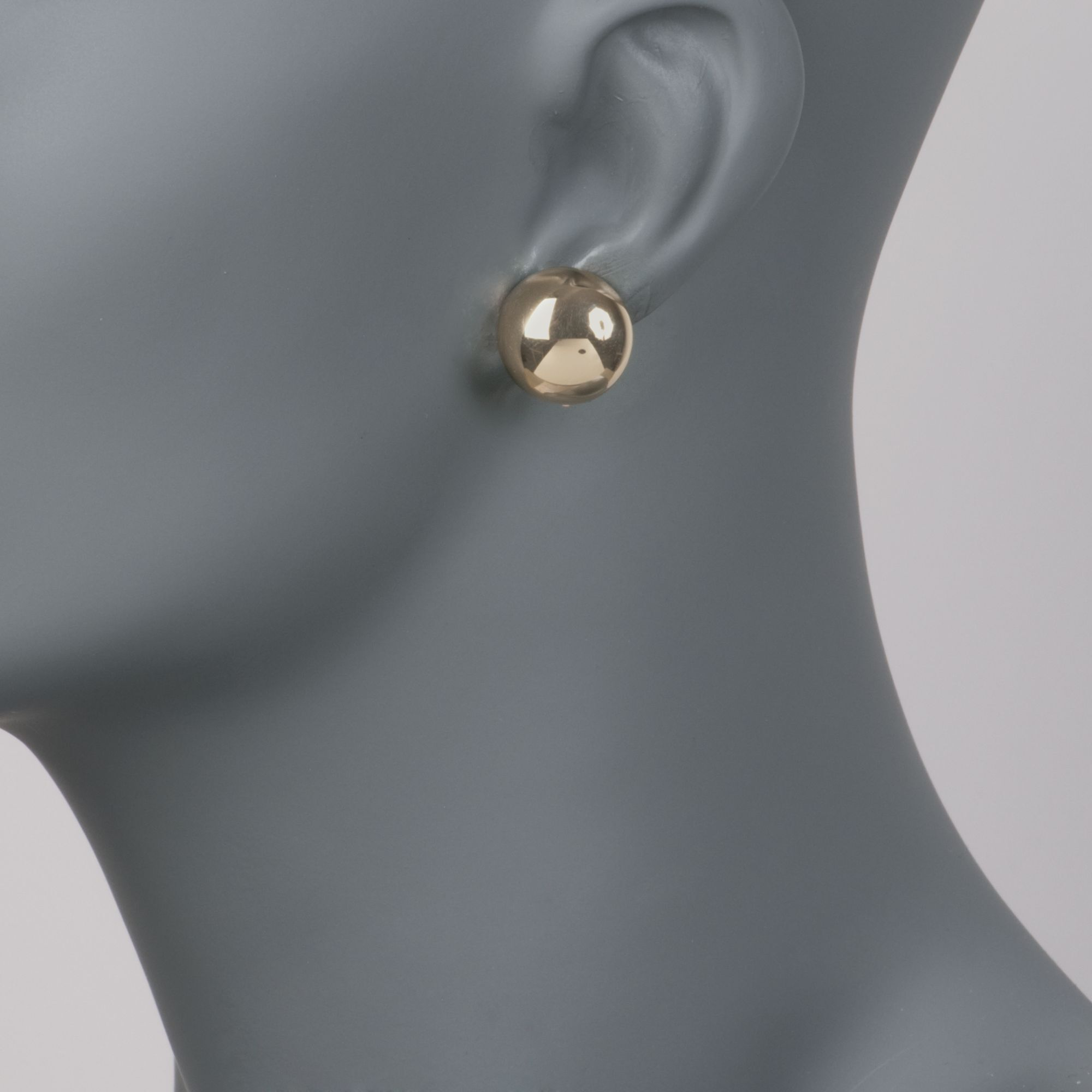 14kt Yellow Gold Dome Clip