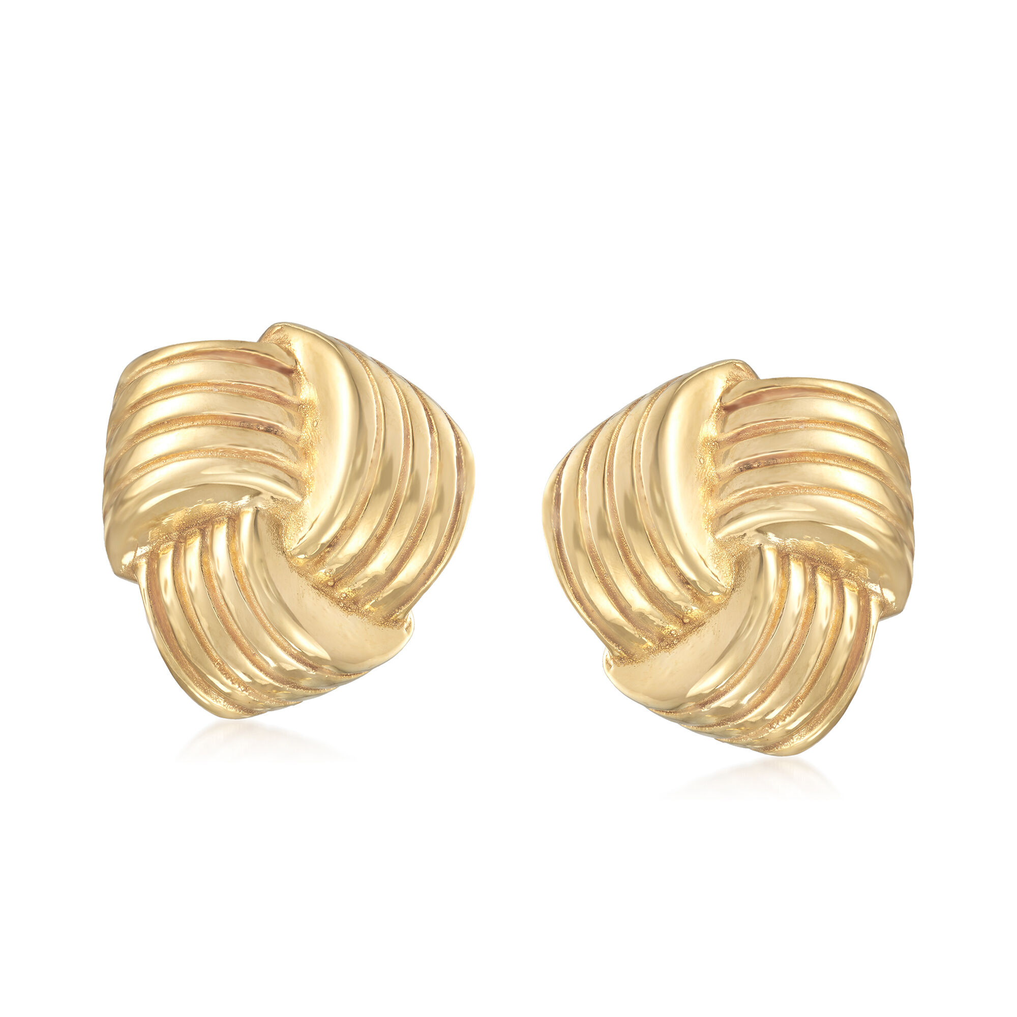 Italian 14kt Yellow Gold Love Knot Earrings