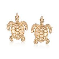 14kt Yellow Gold Turtle Stud Earrings | Ross Simons
