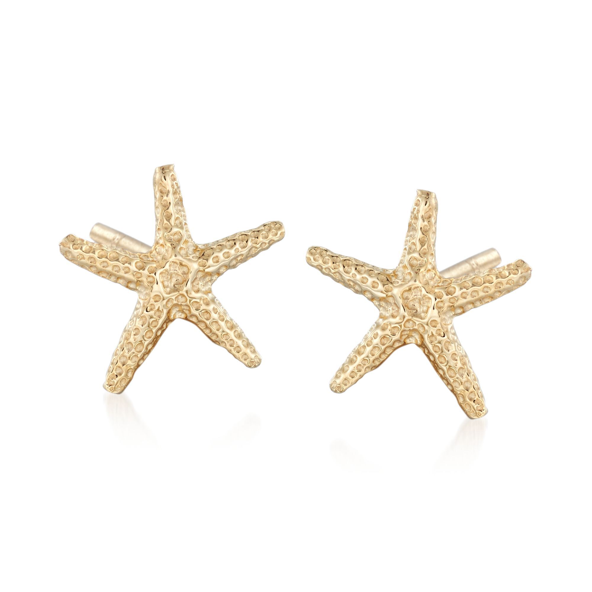 14kt Yellow Gold Starfish Stud Earrings