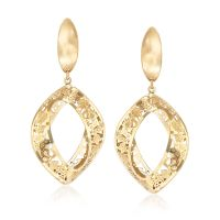 Italian 14kt Yellow Gold Open-Space Drop Earrings | Ross ...