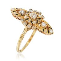 C. 1980 Vintage .55 ct. t.w. Diamond Dinner Ring in 18kt ...