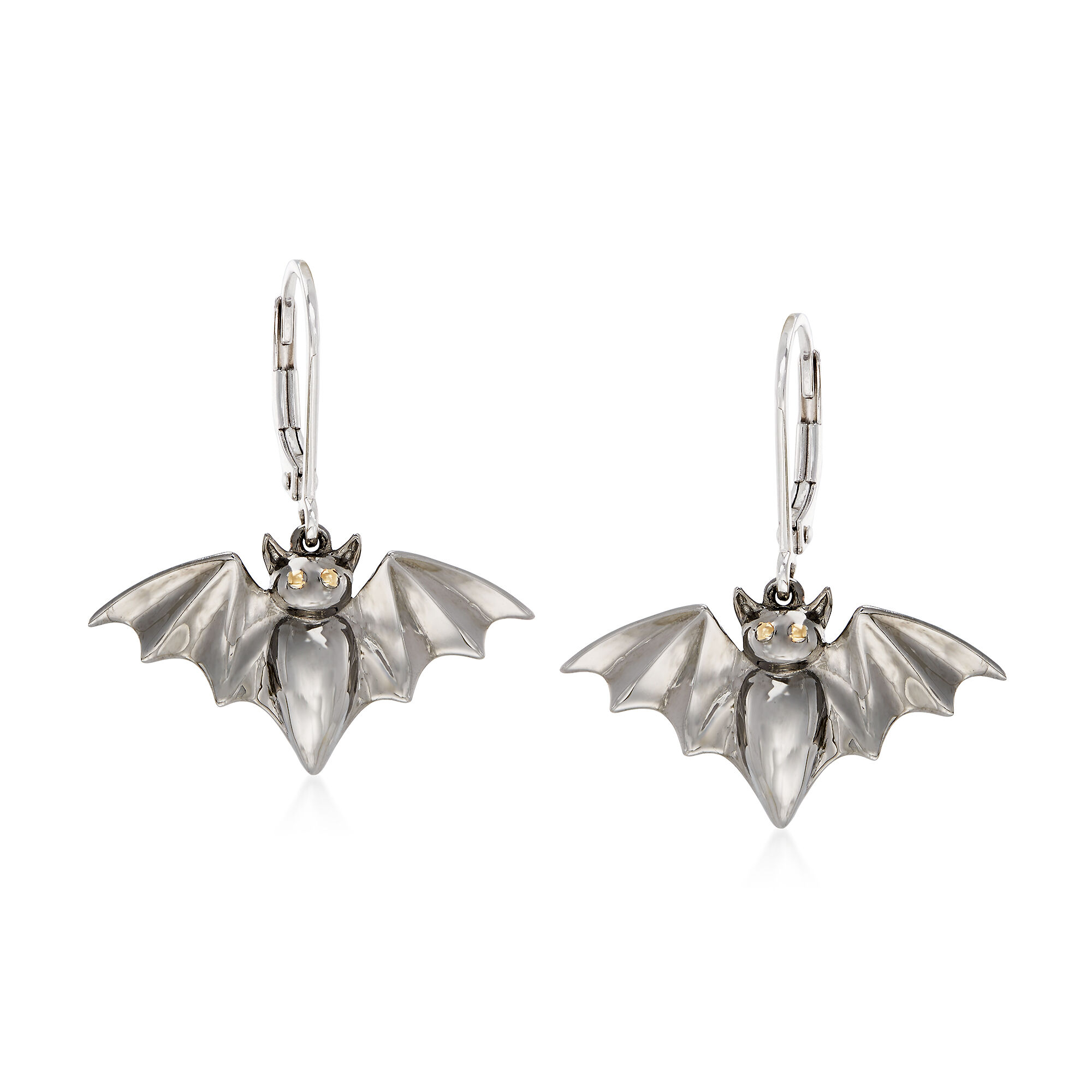 Sterling Silver Bat Drop Earrings