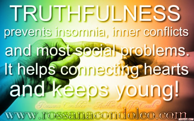 truthfulness rossana condoleo
